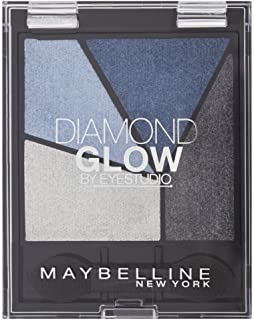Maybelline Eye Studio Diamond Glow Eye Shadow Quad - 01 Blue Drama - Pack of 6