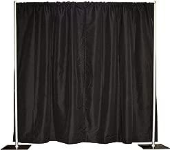 10' x 10' Pipe and Drape, Backdrop Kit, Adjustable uprights (Black)