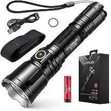 S.K.L Professional Tactical Flashlight 3200 Lumens Klarus XT11X Flashlight LED Rechargeable Police Flashlight USB Rechargeable 18650 IMR Battery (3.0 Upgraded, 3200 Lumens)