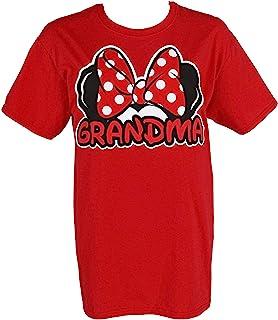 """تي شيرت لمشجعي """"الجدة"""" من Disney Adult أحمر مقاس 2X-Large"""