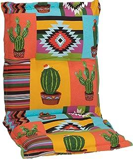 Beo NL Nizza BE912 Cactus/cojín de Respaldo bajo: 100 cm x 52 cm x 7 cm (Naranja/Amarillo)