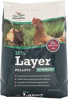 Manna Pro 1000848 667851 16-Percent Layer Pellets, 8 lb