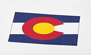 Lunarable Colorado Doormat, State Map with Flag Centennial Colorful United States, Decorative Polyester Floor Mat with Non-Skid Backing, 30