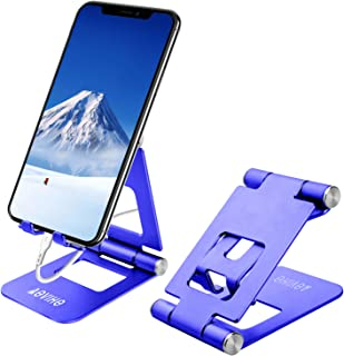 Cell Phone Stand Adjustable, Aoviho Desktop Phone Holder Aluminum Portable Phone Dock Compatible with iPhone 5 6 7 8 11 Pr...