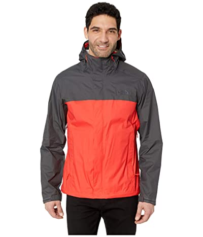 The North Face Venture 2 Jacket (Fiery Red/Asphalt Grey) Men