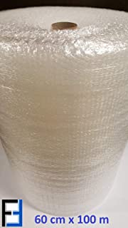 1x Rolle Luftpolsterfolie 60cm x 100m Noppenfolie Verpackungsmaterial NEU Blasenfolie Knallfolie