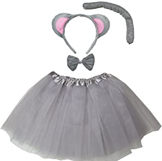 Kirei Sui Kids Animal Costume Ears Headband Bowtie Tail Tutu Set