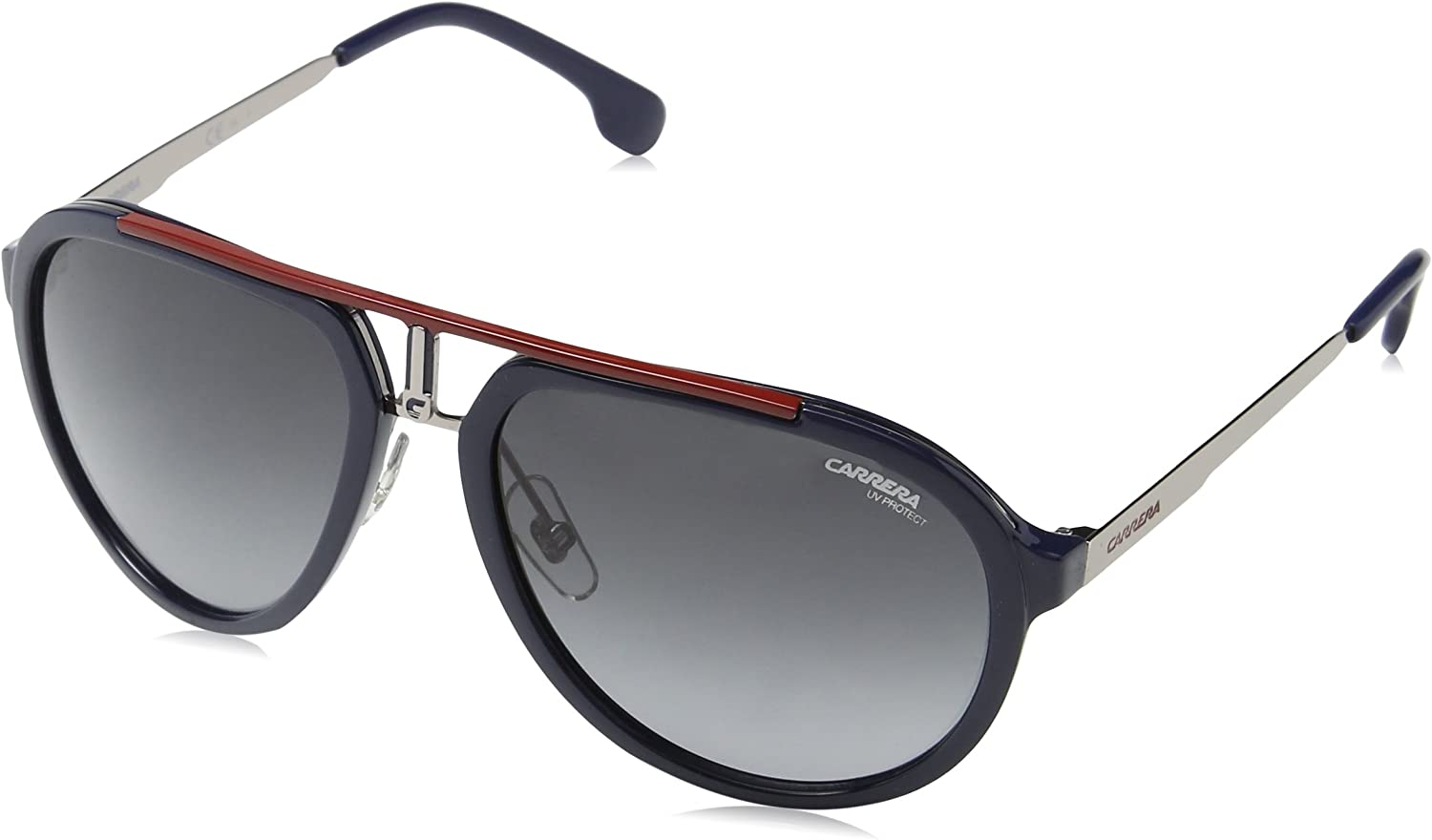 Carrera 1003 s Aviator Sunglasses, blueE RUTHENIUM 58 mm