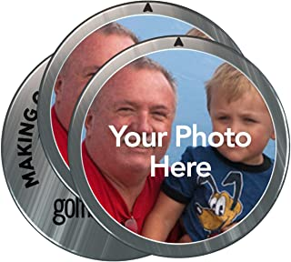 Golfballs.com Personalized Custom Photo Ball Markers - 3 Pack