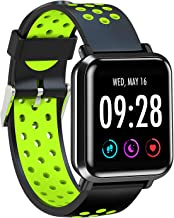 AQFIT Full Touch Multifunction Smart Watch W10 (Green-Black)