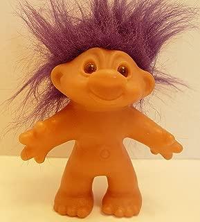 Dark Purple Haired 1986 Dam Troll Doll 5 Inches Tall