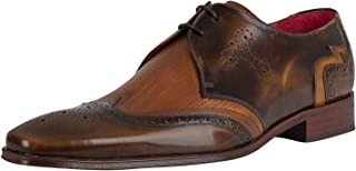 Jeffery West Men's Polished Leather Shoes, Brown