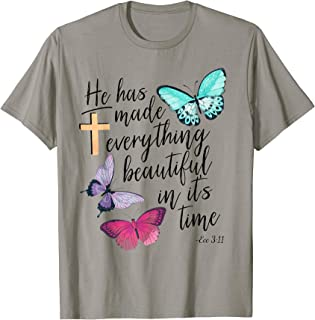 Ecclesiastes Ecc Bible Verse Watercolor Butterfly T-shirt T-Shirt