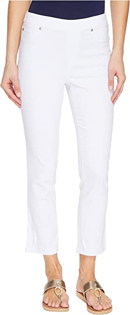 "Tribal Pull-On 25"" Dream Jeans Capris in White"