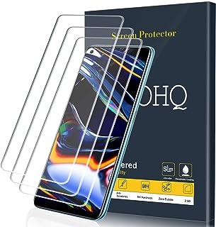 QHOHQ Skärmskydd för Realme 7/Realme 7 Pro/Realme 6/Realme 6S, [3-pack] härdat glasfilm, 9H hårdhet – inga bubblor – anti-...