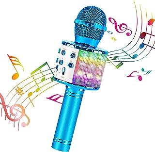 ShinePick Bluetooth Karaoke Wireless Microphone, 4 in 1 Karaoke Machine Portable Microphone for Kids, Home KTV Player, Com...