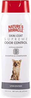 Nature's Miracle Skin & Coat Supreme Odor Control Hypo-Allergenic Unscented Dog Shampoo and Conditioner 473ml