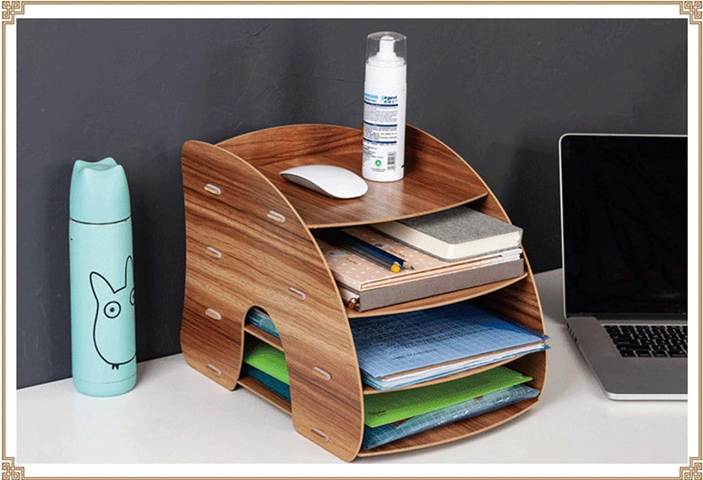 negro organizador de escritorio de madera soporte de libros extra/íble para revistas Sistema de almacenamiento de madera para oficina organizador de documentos organizador de escritorio A4