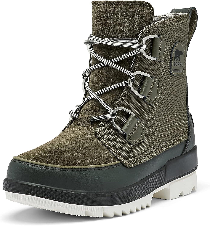 SOREL Women's Tivoli IV Boot — Alpine Tundra, Dark Moss — Waterproof Winter Boots — Size 12