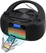 Magnavox MD6972 CD Boombox with Digital AM FM Radio Color Changing Lights and Bluetooth..