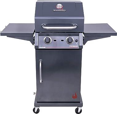 Char-Broil 463655621 Performance TRU-Infrared 2-Burner Cabinet Style Liquid Propane Gas Grill, Metallic Gray