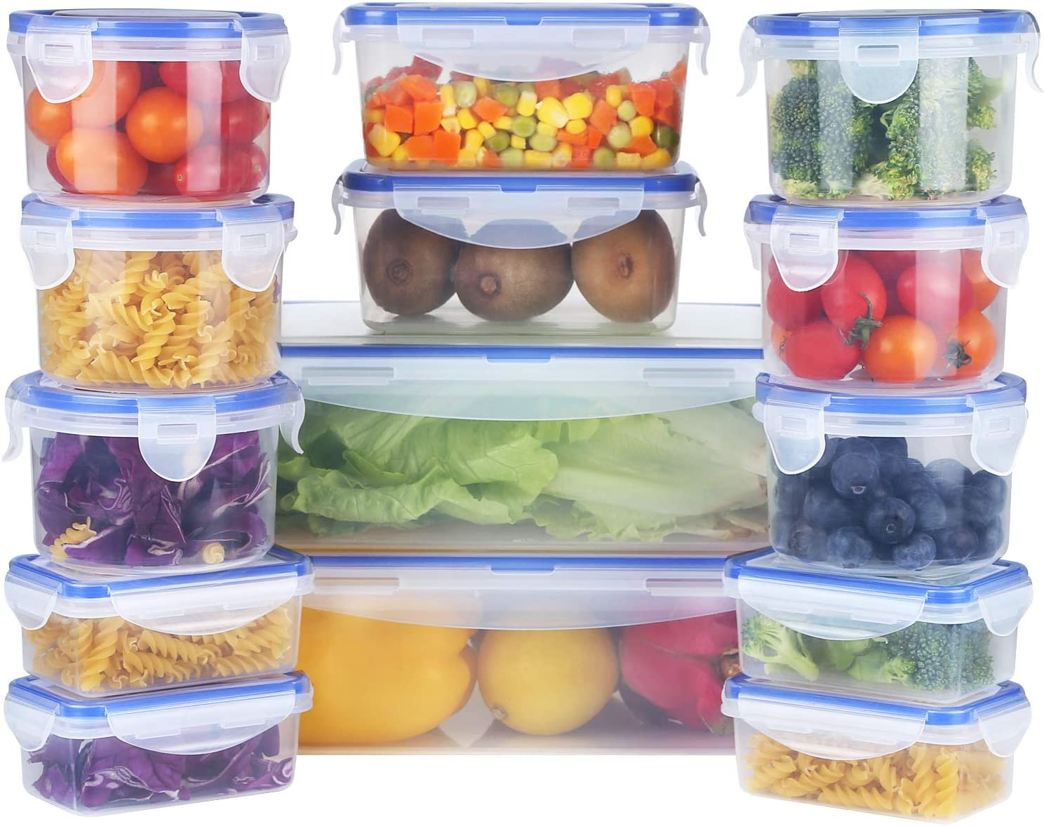 Mengico Food Storage Kansas City Mall Containers store with Plastic Contain Lids -