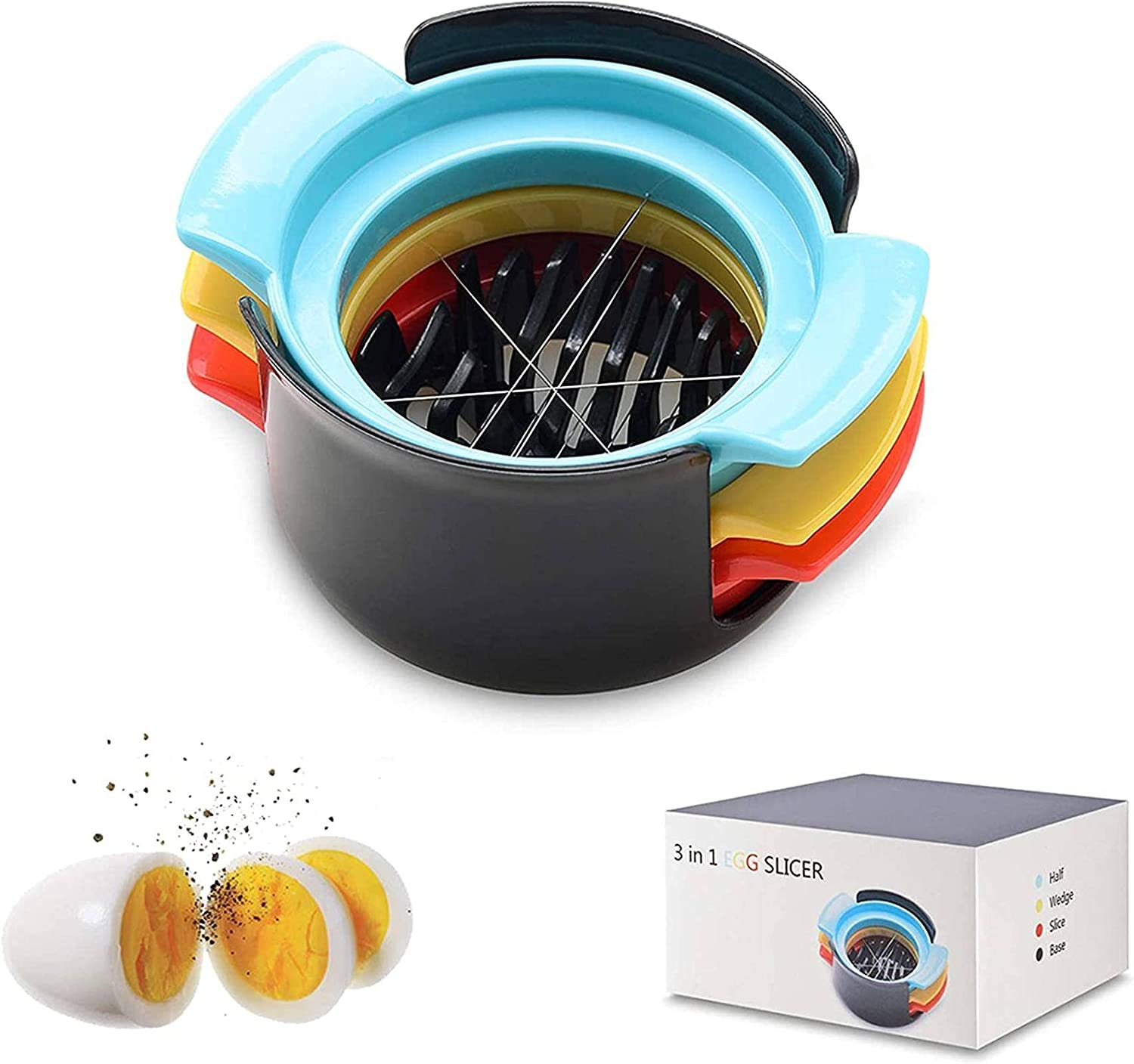 N\C Egg Slicer for Hard Quantity limited Boiled 3 Manufacturer regenerated product in 1 Eggs Multifuncti Upgraded