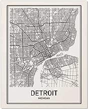 Detroit Poster, Detroit Map, Map of Detroit, Detroit Art, Minimalist Poster, City Map Posters, Detroit Michigan Map, Map Wall Art, Map Art, Scandinavian Poster, 8x10