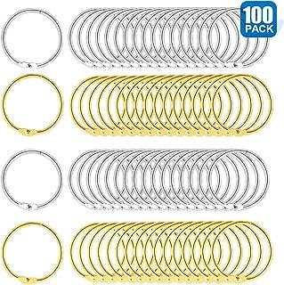 Loose Leaf Binder Rings,1 Inch Office Metal Book Rings Key Rings for Index Cards,Crafts, Notebook,Paper,Book Binding