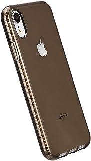 Amazon Basics - Cover per iPhone XR, in TPU (trasparente nero), protettiva e antigraffio