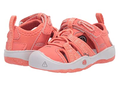 Keen Kids Moxie Sandal (Toddler) (Coral/Vapor) Girls Shoes