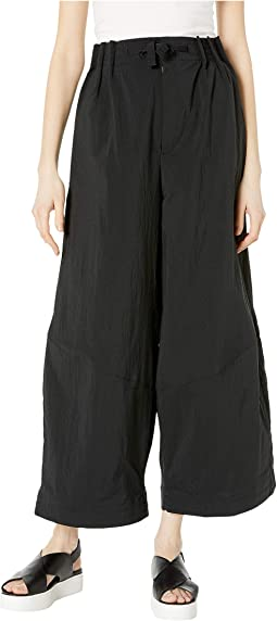 Nylon Twill Wide Pants