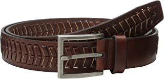 Tommy Bahama Men's Leather with Laced Cord Belt