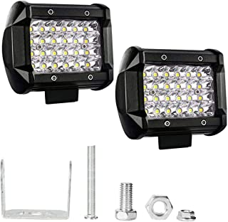 AllExtreme EX24F2P 24 LED Fog Light Bar 4 Inch CREE Cube Pod Work Light Waterproof Off Road Driving Spot Lamp for Bike Cars and Motorcycle (72W, White Light, 2 PC)