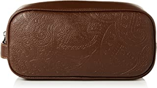 Robert Graham Mens Palmar Faux Leather Paisley Toiletry Kit