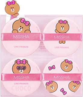 Missha Tension Pact Puff_Line Friends Edition [Fitting 4P_#02 Choco]