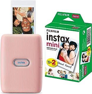Instax 16640670, Impresora para Smartphone, Rosa, Tamaño Único + Fujifilm Instax Mini Brillo - Película fotográfica instan...