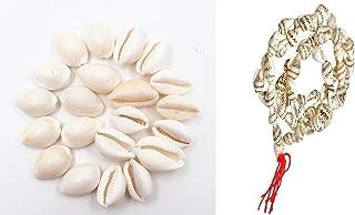 finaldeals Shanka Mala 108 + 1 Beads White Shankh Beads mala Shell Mala with 11 White Kawdi cawri Natural Shell