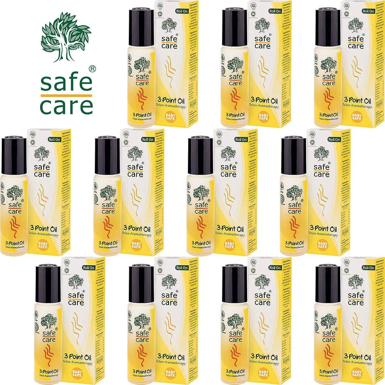 引っ張る睡眠Safe Care セーフケア Aromatherapy Telon 3Point Oil アロマテラピー リフレッシュオイル テロン3ポイントオイル ロールオン 10ml×11本セット [海外直送品]