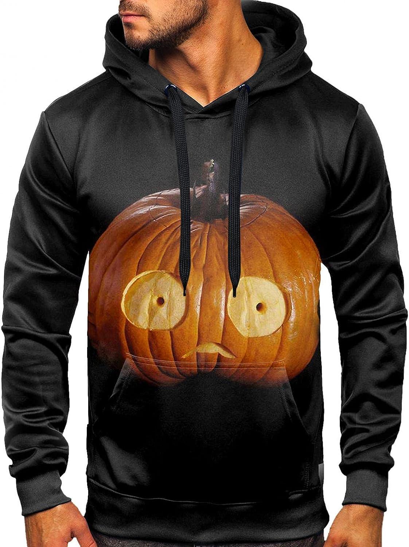 Super-cheap Men's Raleigh Mall Sweatshirts Halloween Long Sleeve Pullover Hooded Print 3D