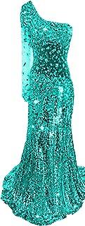 Emmani da donna una spalla Paillettes diamante da ballo