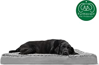 Furhaven Pet Dog Bed | Deluxe Therapeutic Traditional Mat Rectangular Step-On Foam..