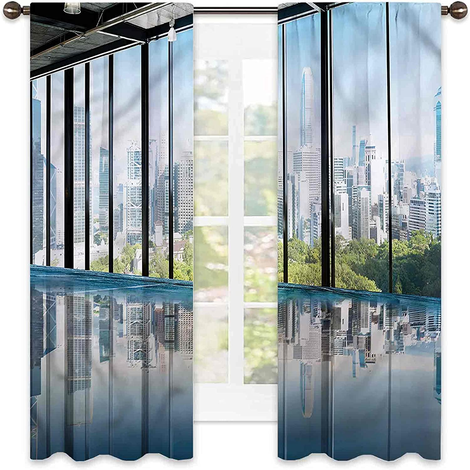 Modern Bedroom Rod Pocket Blackout Curtains Price reduction Park Central Forest National uniform free shipping