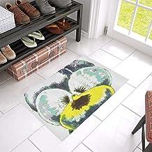 Plants Nature Botanical Botany Flower Floral Unique Debora Custom Bathroom Accessories Non-Slip Bath Mat Rug Bath Doormat ...