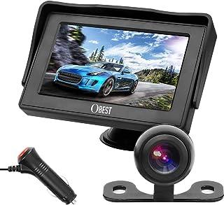OBAST Backup Camera and Monitor Kit - Rear View Reversing Camera with Waterproof Night Vision and 4.3 ' LCD Monitor Power ...