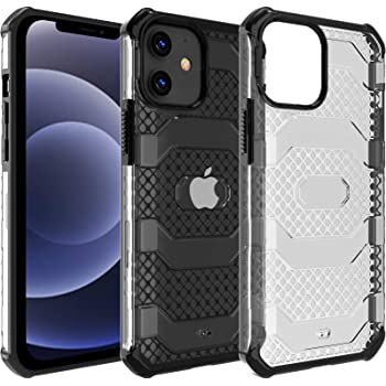 Restoo Compatible with iPhone 12/12 Pro Case,Anti-Slip Hard Armor Shockproof Case with Full Body Rugged Heavy Duty Protection for iPhone 12/12 Pro 6.1 inch,Black