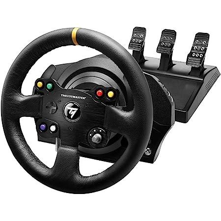 Thrustmaster TX Racing Wheel Leather Edition, Volant de Course et Pédales, Xbox Series X|S, One et PC, Retour de Force, Moteur sans Balais, Double Courroie, Magnétique, Volant Interchangeable