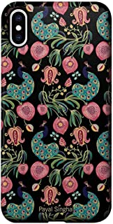 Macmerise IPCIXMPPS1488 Payal Singhal Anaar and Mor Black - Pro Case for iPhone XS Max - Multicolor (Pack of1)