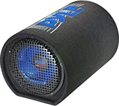 "8-Inch Carpeted Subwoofer Tube Speaker - 400 Watt High Powered Car Audio Sound Component Speaker Enclosure System w/ 2"" Aluminum Voice Coil, 4 Ohm, 30Hz-700kHz Frequency - Pyle PLTB8"