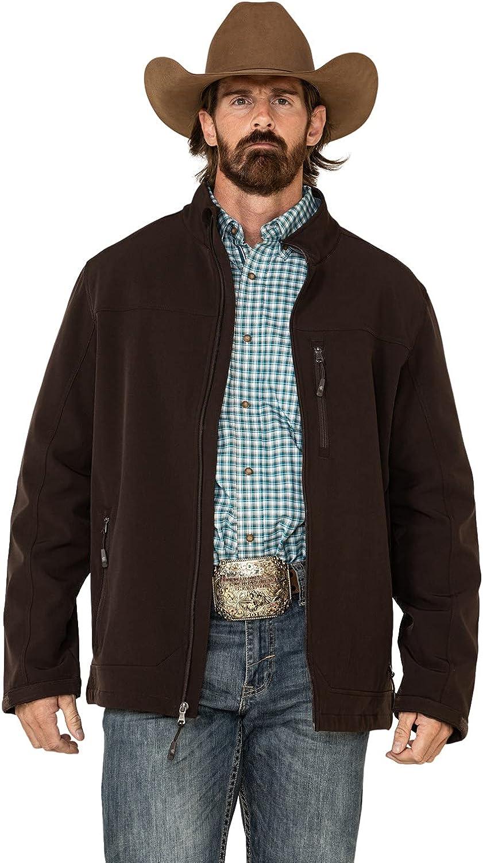 Cody James Men's Steamboat Softshell Bonded Zip Front Jacket Big Brown 4X